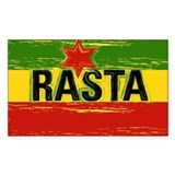 Rasta One Love Rectangle  Aufkleber