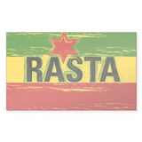 Rasta One Love Rectangle Decal