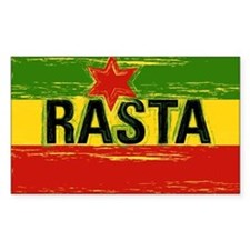 Rasta One Love Rectangle Decal