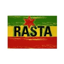 Rasta One Love Rectangle Magnet