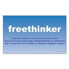 Freethinker Definition Rectangle Decal