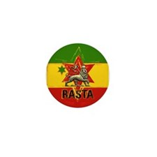One Love Rasta Colours Mini Button
