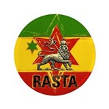 "One Love Rasta colour 3.5"" Button"