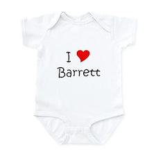 Cute I love barrett Infant Bodysuit