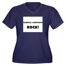 Clerical Assistants ROCK Women's Plus Size V-Neck