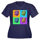 Trippy Trilobites Women's Plus Size V-Neck Dark T-