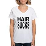 Hair Sucks Women's V-Neck T-Shirt