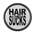 Hair Sucks Large Wall Clock