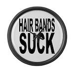 Hair Bands Suck Large Wall Clock
