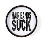 Hair Bands Suck Wall Clock