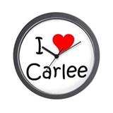 Funny Carlee Wall Clock