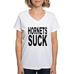 Hornets Suck Women's V-Neck T-Shirt