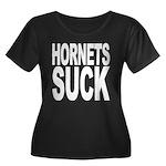 Hornets Suck Women's Plus Size Scoop Neck Dark T-S