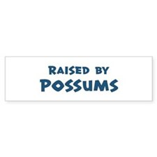 Raised by Possums Bumper Bumper Sticker