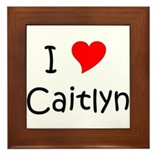 Cute Heart caitlyn Framed Tile