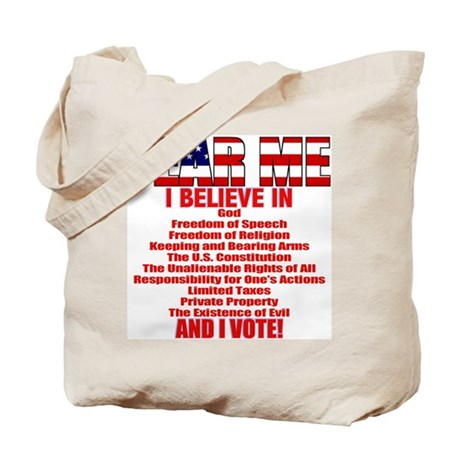 """I Believe"" Tote Bag"