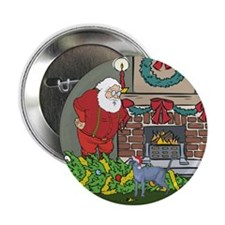 "Santa's Helper Russian Blue 2.25"" Button"