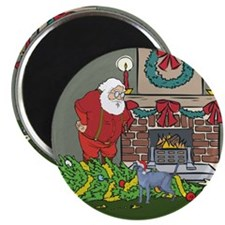 "Santa's Helper Russian Blue 2.25"" Magnet (100 pack"