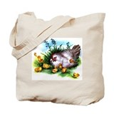 Vintage Hen &amp; Chicks Tote Bag