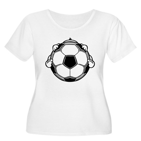 Soccer Baby Women's Plus Size Scoop Neck T-Shirt