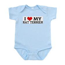 I Love My Rat Terrier Infant Creeper