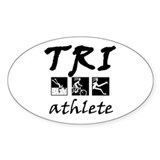 TRI STICKERS Oval Decal