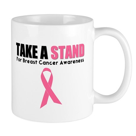 Take A Stand Breast Cancer Mug