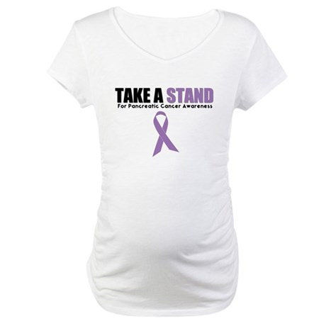 Pancreatic Cancer Stand Maternity T-Shirt