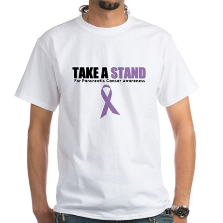 Pancreatic Cancer Stand White T-Shirt
