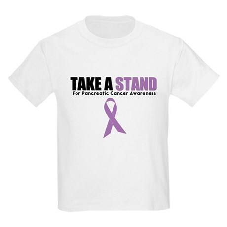 Pancreatic Cancer Stand Kids Light T-Shirt