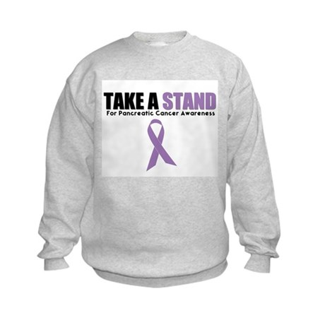 Pancreatic Cancer Stand Kids Sweatshirt
