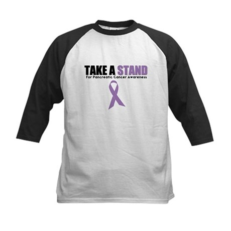 Pancreatic Cancer Stand Kids Baseball Jersey