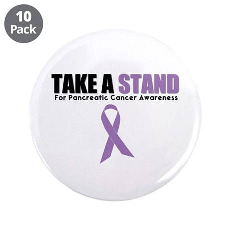 "Pancreatic Cancer Stand 3.5"" Button (10 pack)"