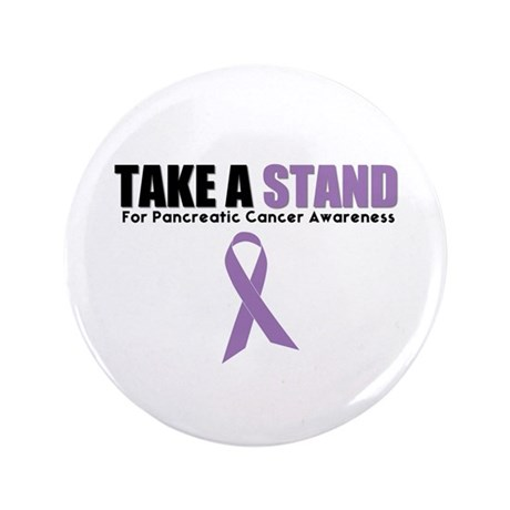 "Pancreatic Cancer Stand 3.5"" Button"