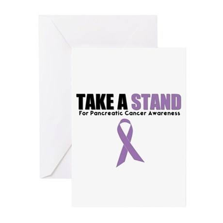 Pancreatic Cancer Stand Greeting Cards (Pk of 10)