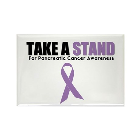 Pancreatic Cancer Stand Rectangle Magnet