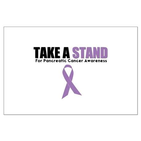 Pancreatic Cancer Stand Large Poster