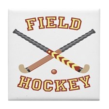 Field Hockey Tile Coaster