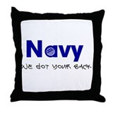 Navy - We got your back Throw Pillow