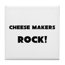 Cheese Makers ROCK Tile Coaster