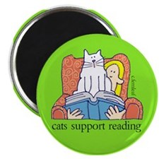 Cats Support Literacy Magnet
