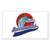 Barracudas Rectangle Sticker 50 pk)