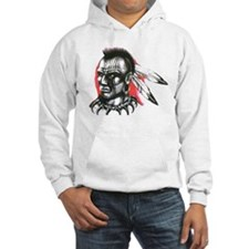 Mohawk Indian Tattoo Art Hoodie