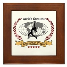 Her Greatest Badminton Player Framed Tile Award