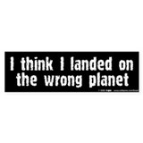 Wrong Planet Bumper Car Sticker