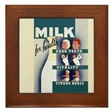 Milk for Health Framed Tile
