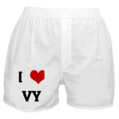 I Love VY Boxer Shorts