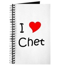 Unique I (heart) chet Journal