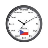 Czech Language Wall Clock