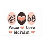 Peace Love McPalin Postcards (Package of 8)